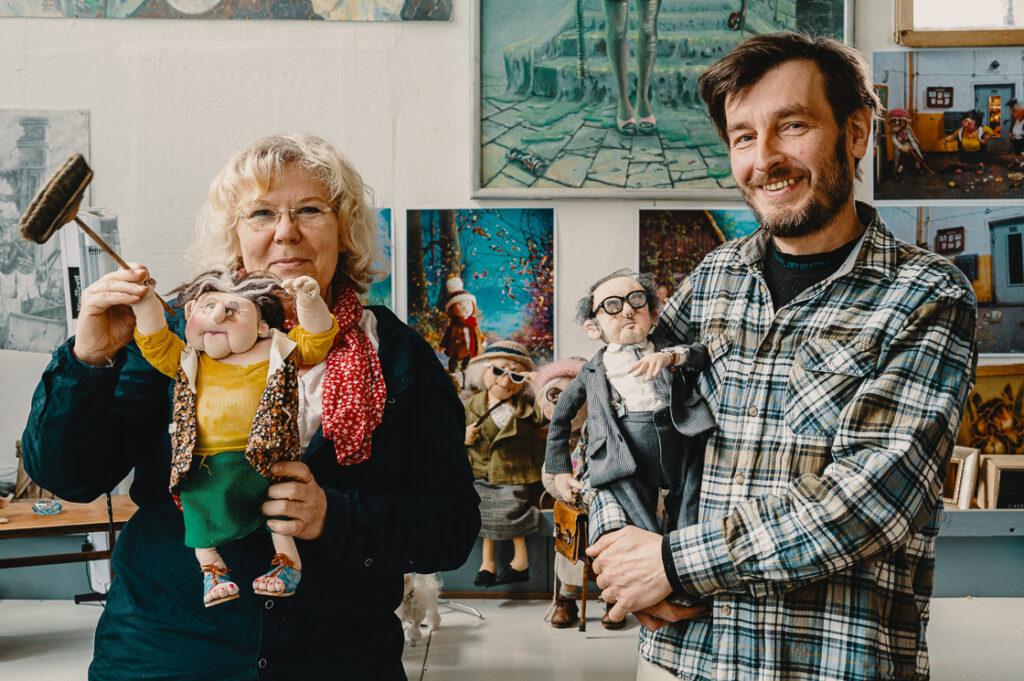 Projekt Pracownie_wywiad_Małgorzata Trafimoff i Robert Kotowski_ręcznie szyte lalki_fot_Radek Zawadzki
